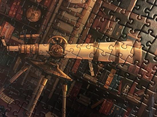 Ravensburger Exit Puzzle Fernrohr Nahaufnahme