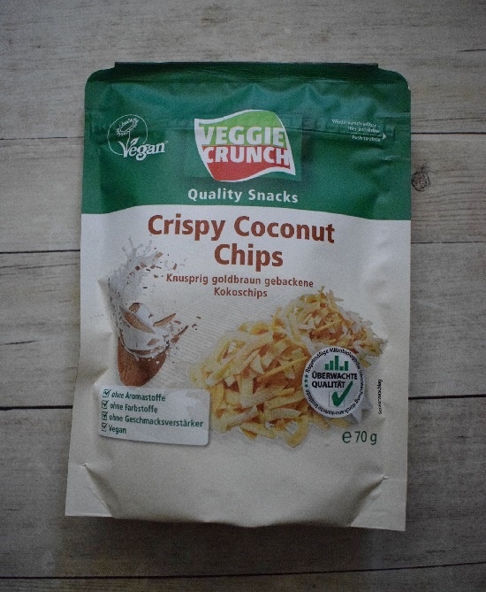 Degustabox 2019 Veggie Crunch Snack Crispy Coconut Chips
