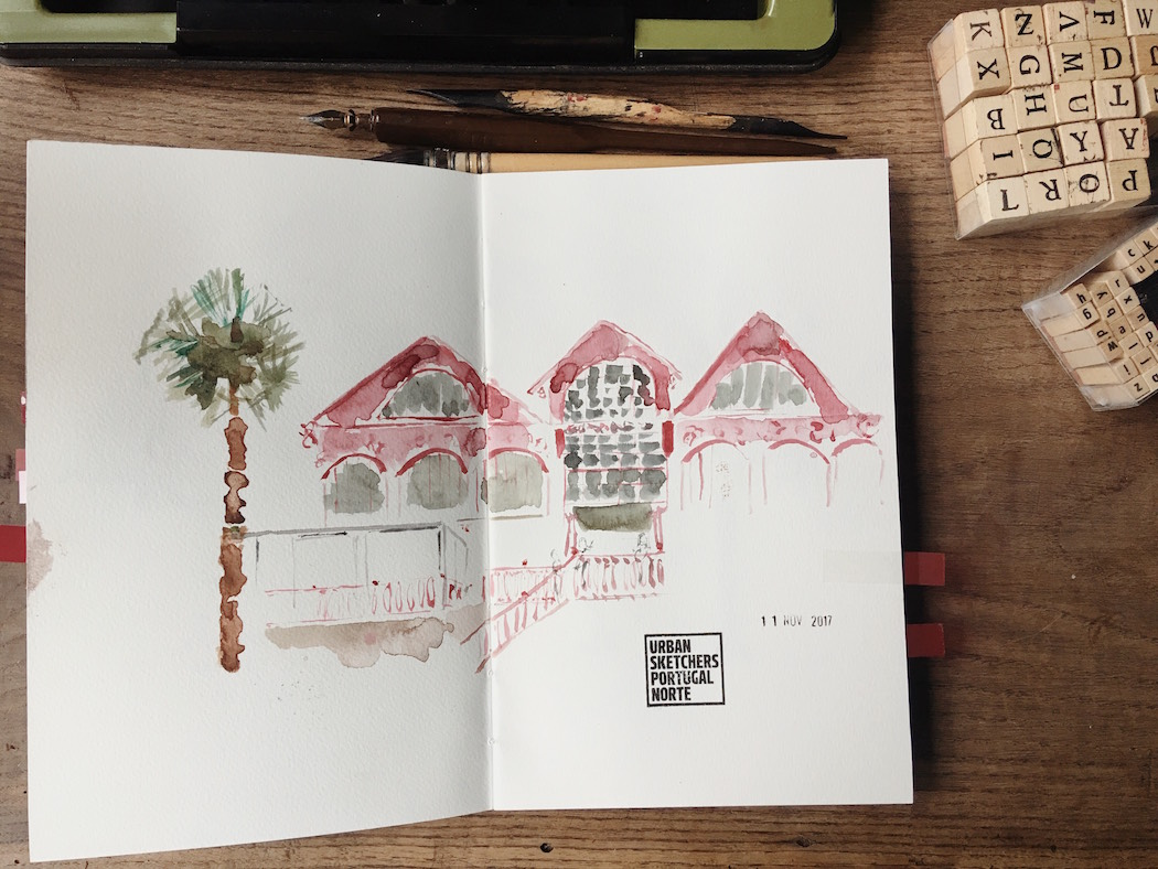 urban sketchers drawing sketchbook watercolour