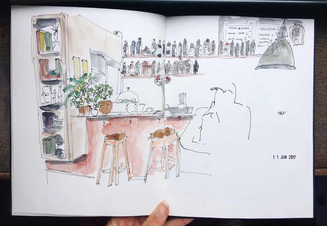 porto blog blogger drawing watercolour