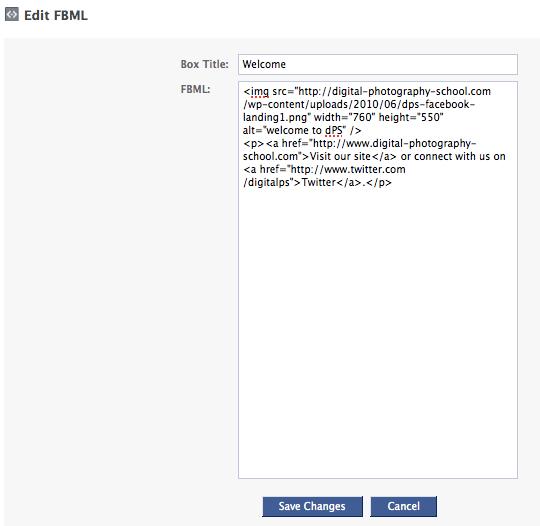 edit fbml