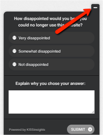 Kiss Insights Survey Tool