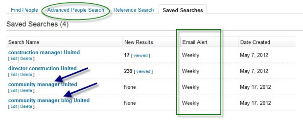 The LinkedIn people search