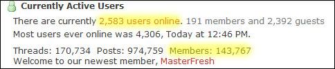 Forum stats