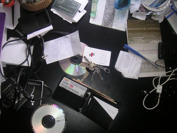 A messy desk
