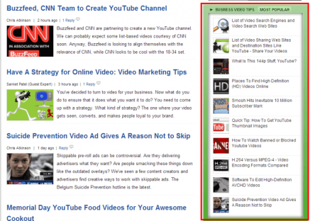 Example of Featured Content