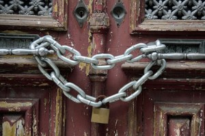 Padlock on door and your blog content!