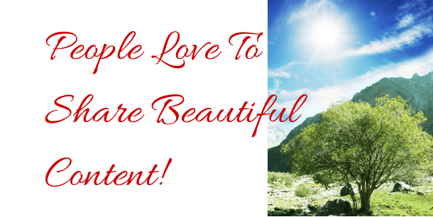 People Love To Share Beautiful Content!