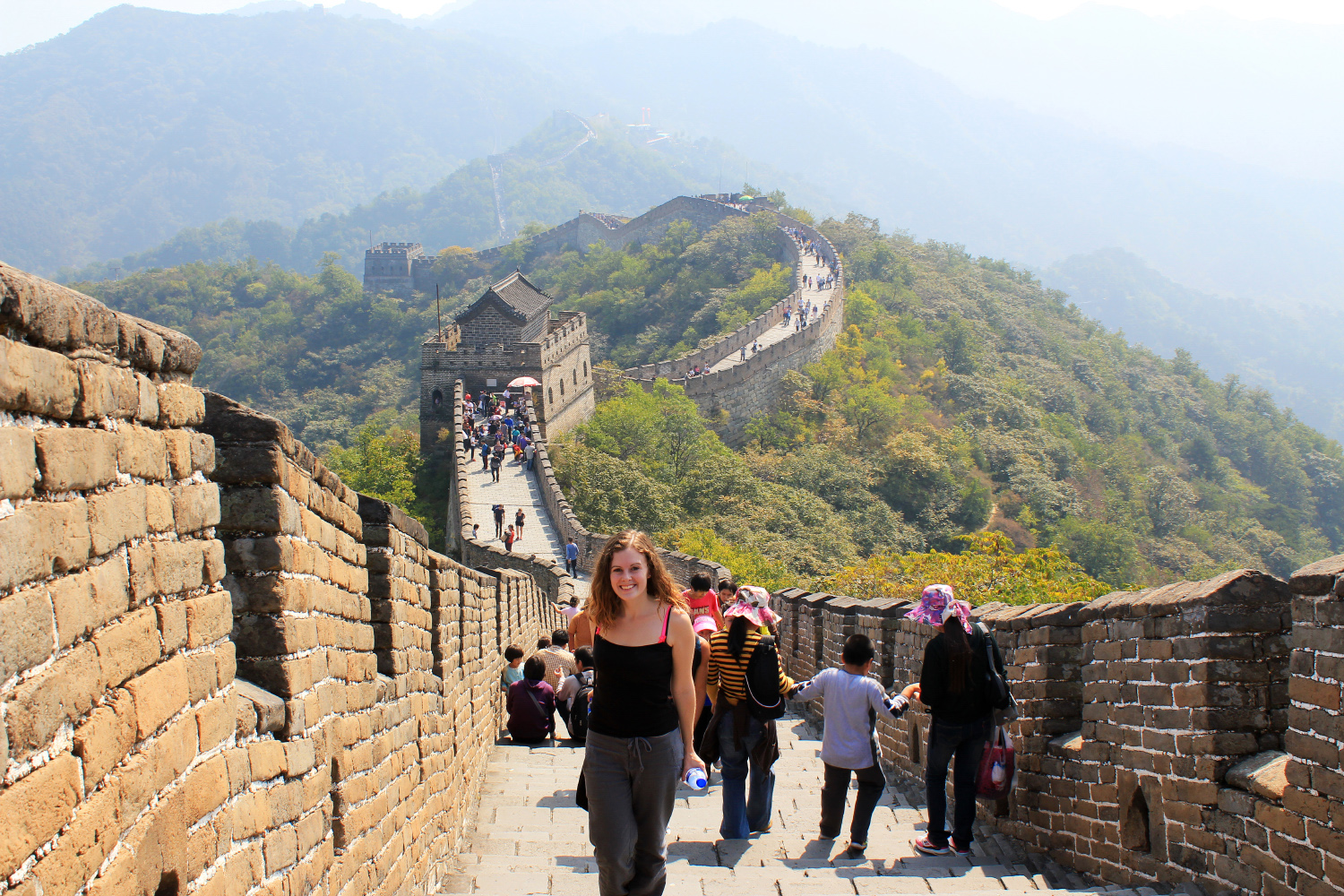 Lauren on the Great Wall of China