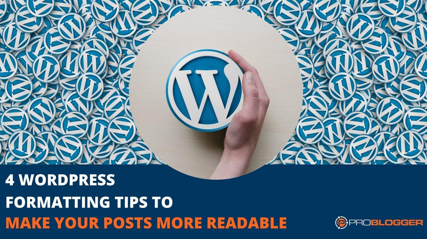 More Readable blog posts WordPress Formatting