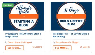ProBlogger Courses Example