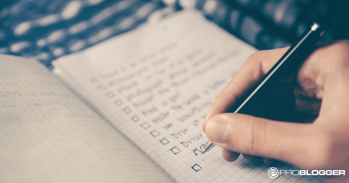 A Checklist For Checklists using templates and checklists to make your blogging life easier