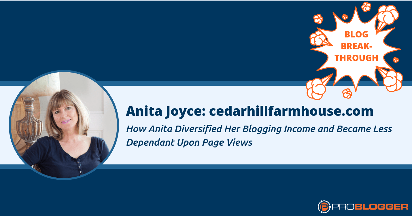 Here's how Anita Joyce managed to diversify her blogging income and depend less on page views.