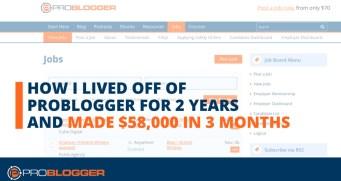 How I lived off ProBlogger