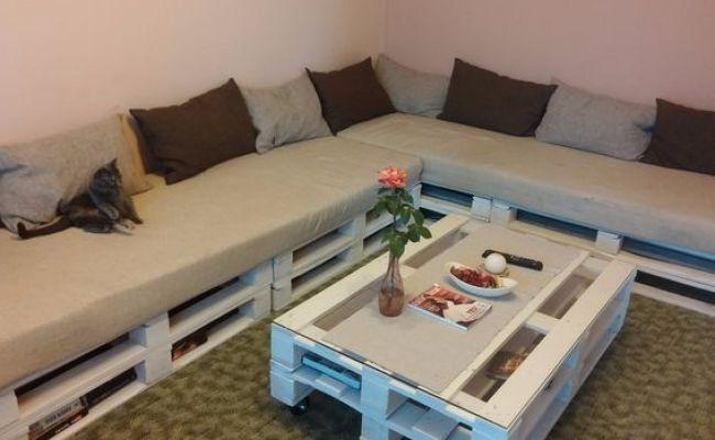 Membuat Sofa Dan Meja Dari Kayu Palet Bekas Yang Murah
