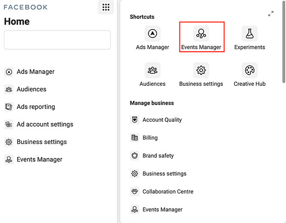screenshot events manager