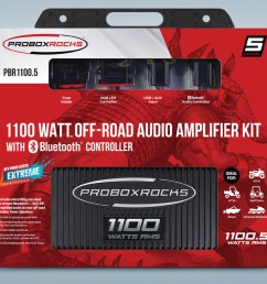 pbr1100 5 1100 w 5 channel off road audio amplifier kit with bluetooth controller [ 1152 x 768 Pixel ]