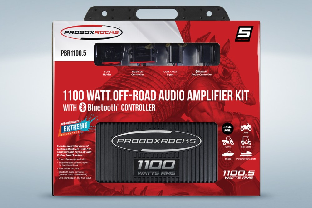 medium resolution of pbr1100 5 1100 w 5 channel off road audio amplifier kit with bluetooth controller