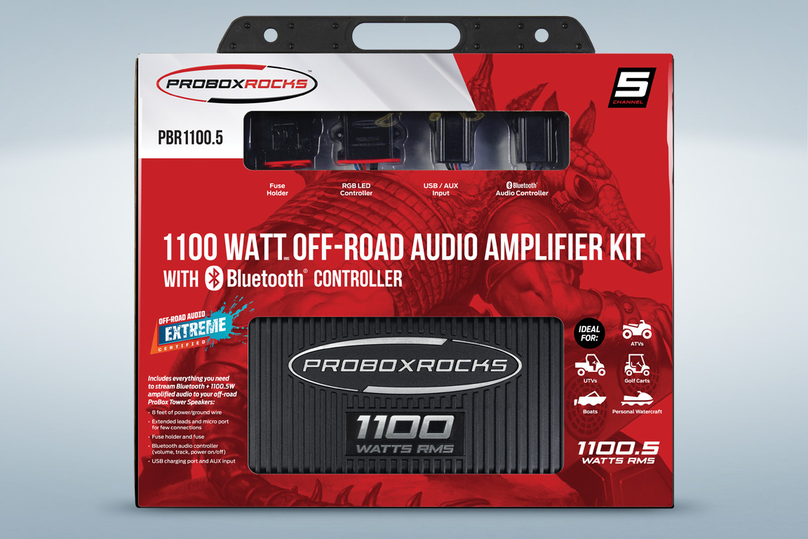 hight resolution of pbr1100 5 1100 w 5 channel off road audio amplifier kit with bluetooth controller