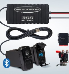 pbr300 2 300w off road audio amplifier kit with bluetooth controller [ 1152 x 768 Pixel ]