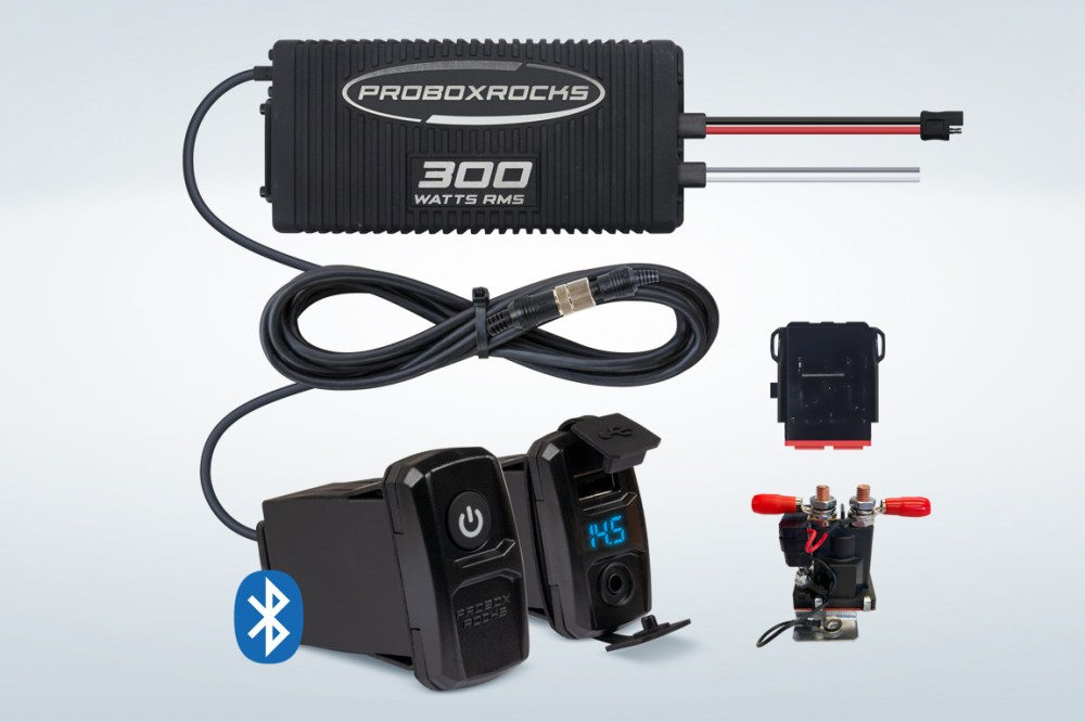 medium resolution of pbr300 2 300w off road audio amplifier kit with bluetooth controller