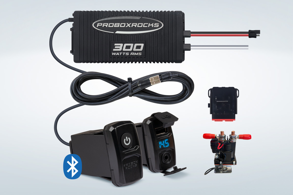 hight resolution of pbr300 2 300w off road audio amplifier kit with bluetooth controller