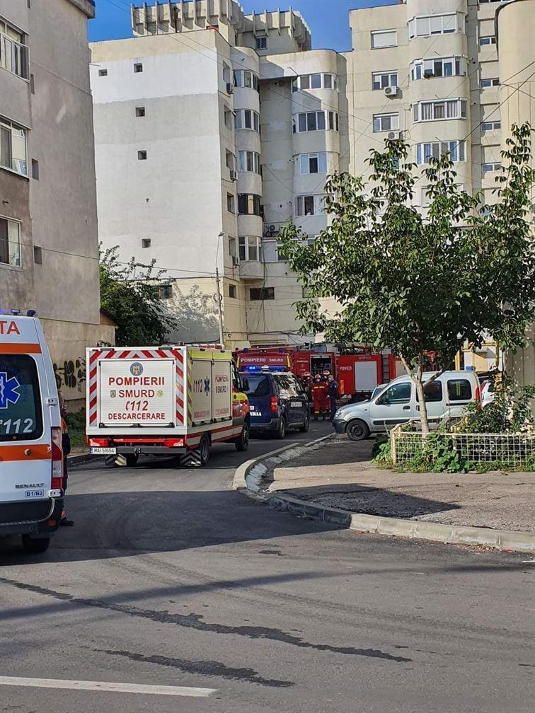 Incendiul cu pagube materiale însemnate produs într-un apartament de pe Bulevardul Dorobanților