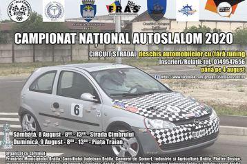 În perioada 8-9 august în Brăila se va desfășura Campionatul Național AUTOSLALOM 2020