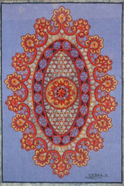 Firenze / Batik auf weisse Spitzen