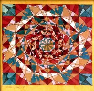 Yin und Yang / Mosaik Batik