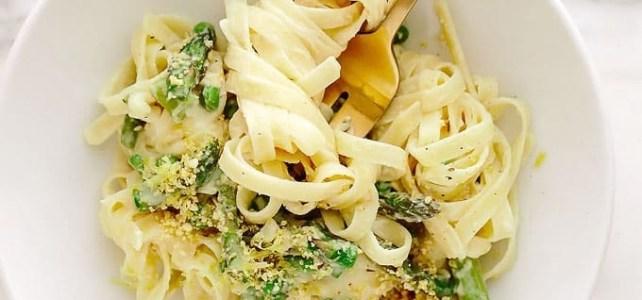 Asparagus and Pea Carbonara