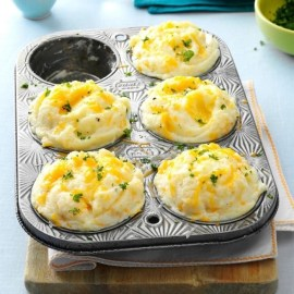 Cheesy Leftover Mashed Potato Cups