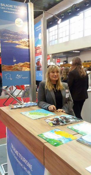 Isabelle au Salon des Vacances de Bruxelles