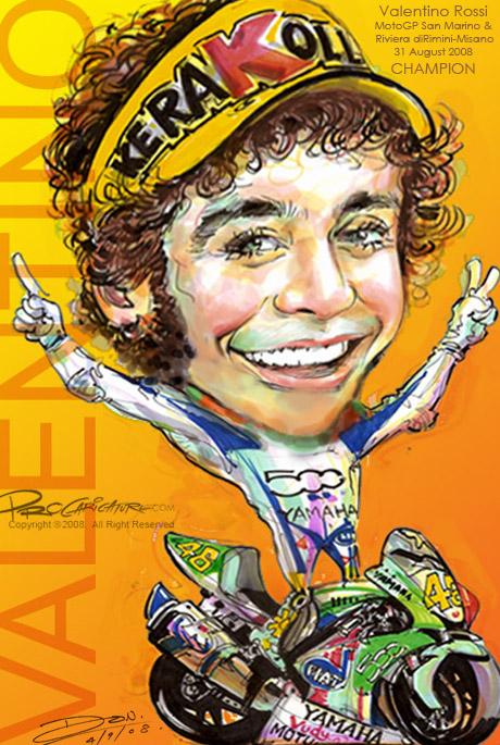 Caricature Valentino Rossi  ProCaricature