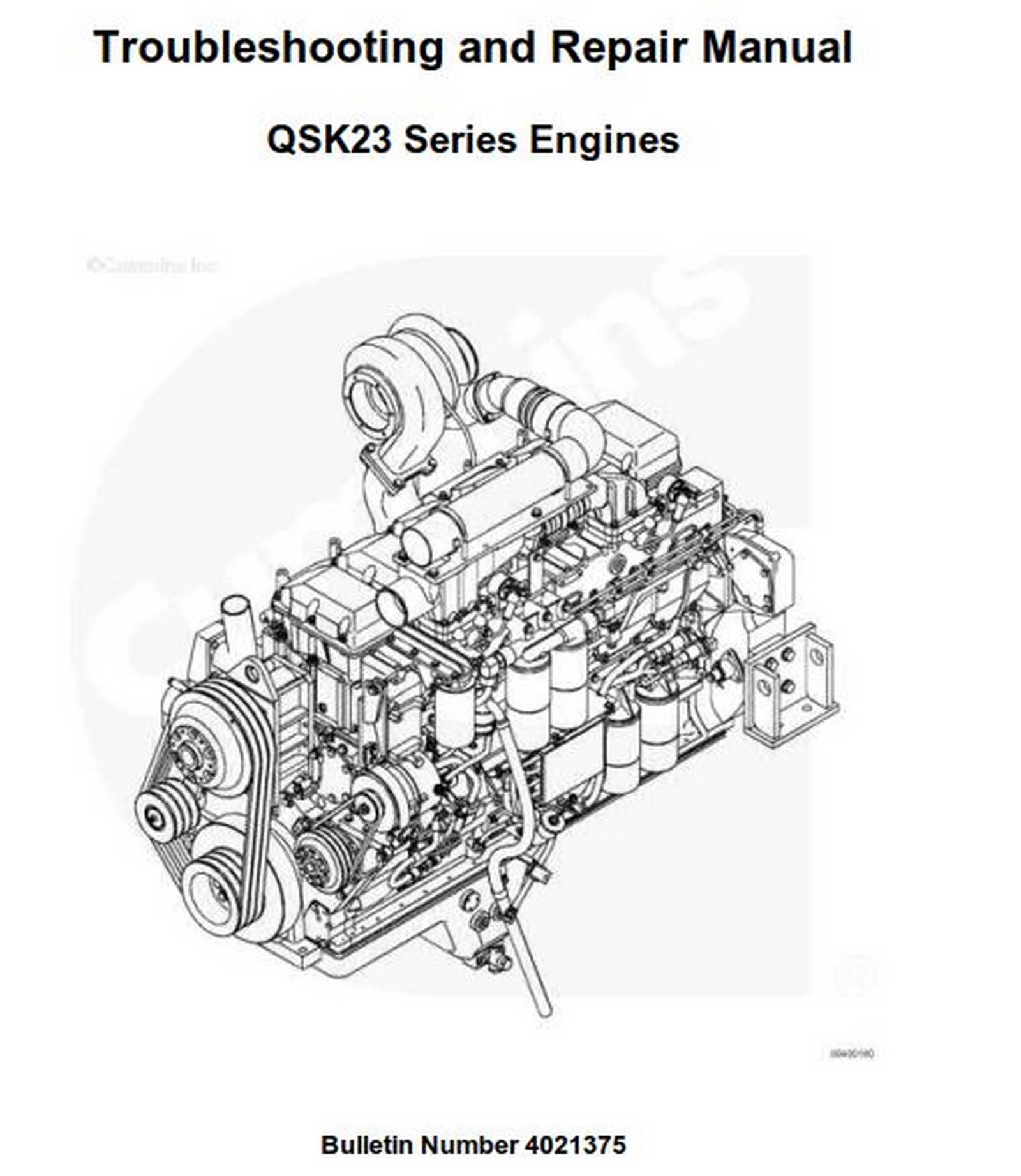 Cummins QSK23 Series Engines Troubleshooting and Repair