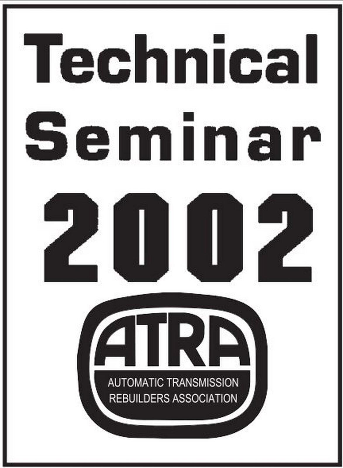 2002 ATRA Seminar Manual Contents
