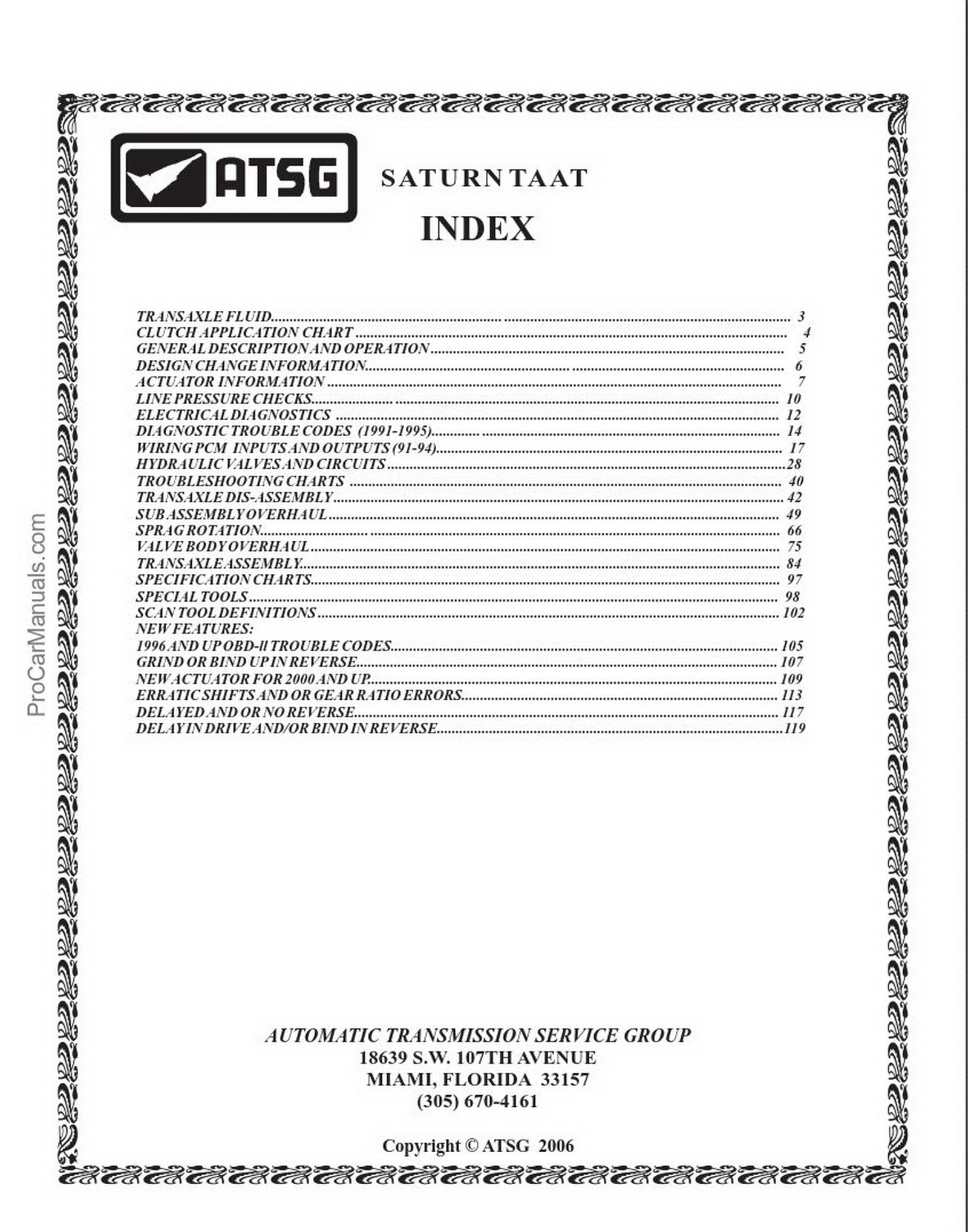Saturn – ATSG (Automatic Transmission Service Group)