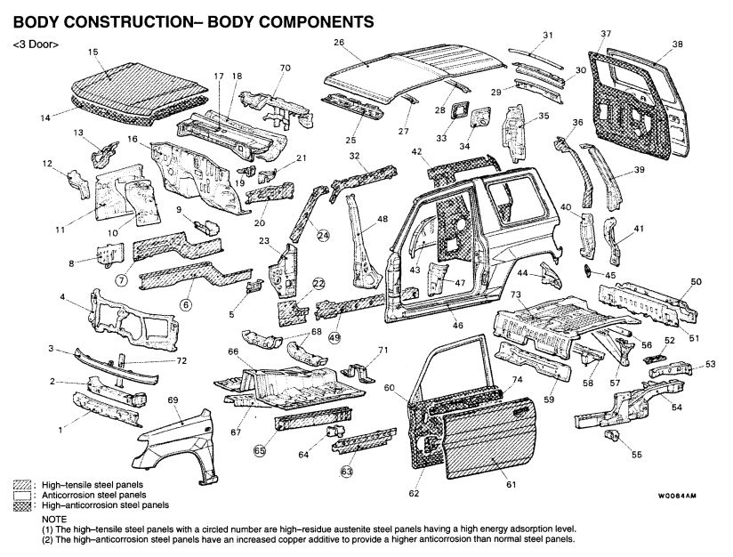 Mitsubishi Pajero Pinin 2000 Body Repair Manual