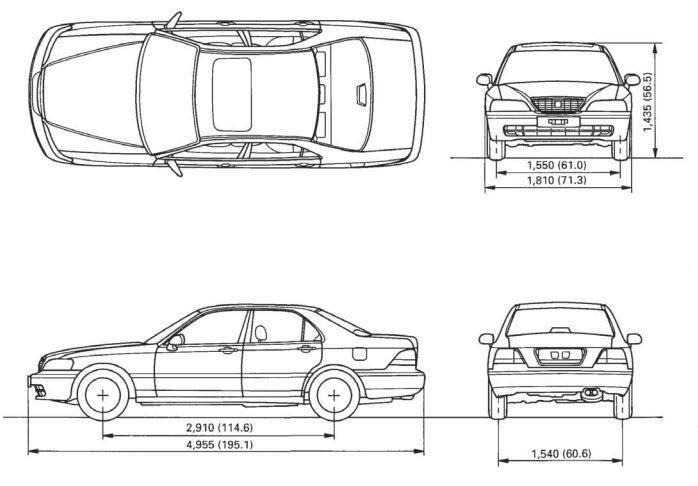 Acura 3.5RL 1996 - 2004 Body Repair Manual