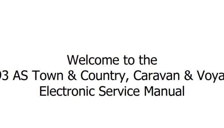 Chrysler AS Town & Country, Caravan, Voyager 1993 Service