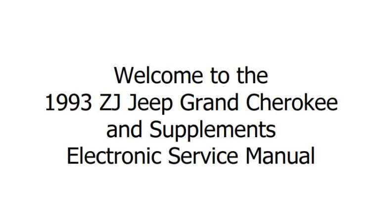 JEEP GRAND CHEROKEE, GRAND WAGONEER ZJ 1993 SERVICE MANUAL