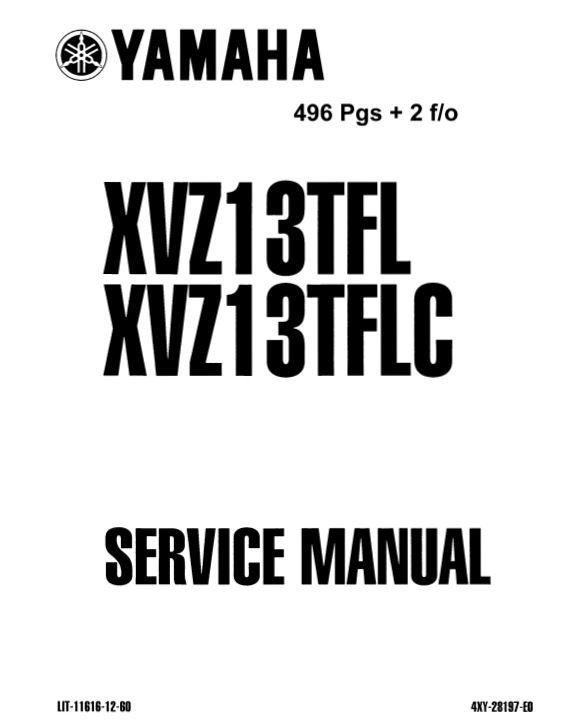 Yamaha XVZ13TFL/XVZ13TFLC 1998 Service Manual (P/N LIT