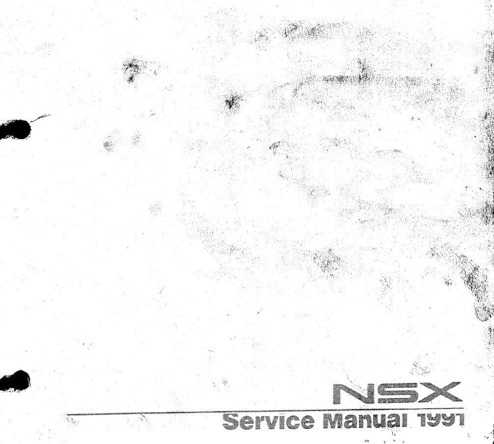 Honda / Acura NSX 1991 Service Manual - Suspension