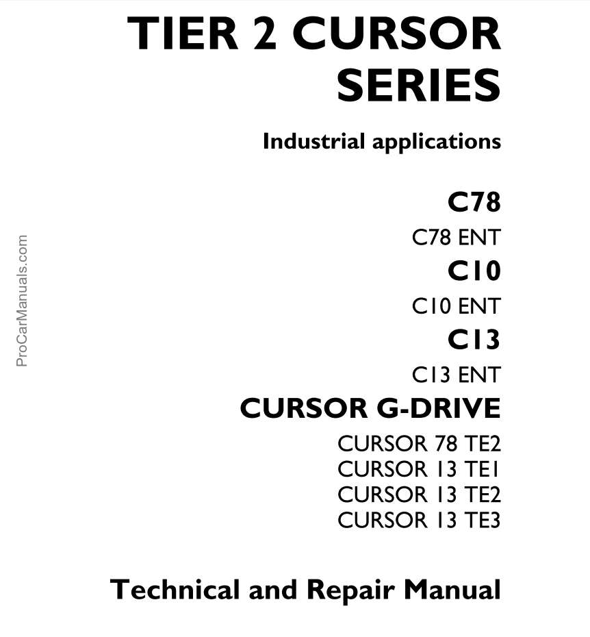 Iveco Engine Technical and Repair Manual