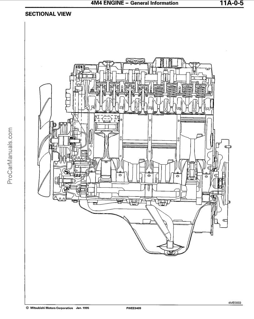 Mitsubishi Engine 4M40 Service Repair Manual