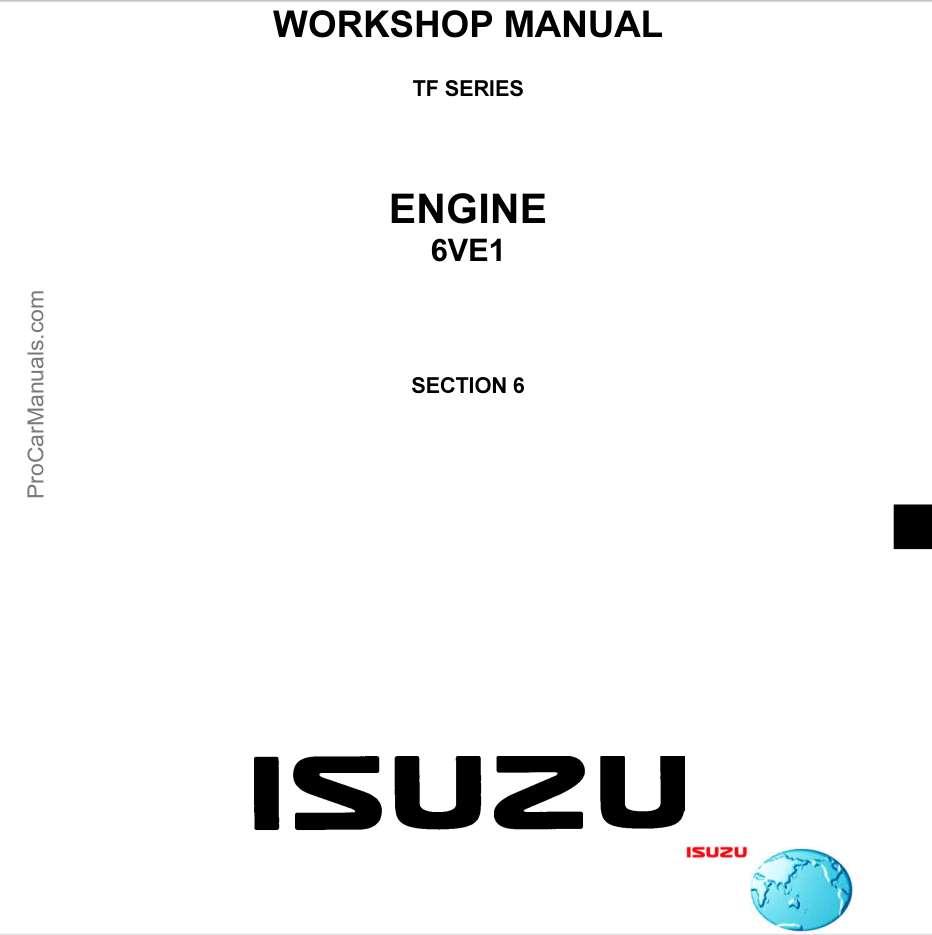 Isuzu Engine TF SERIES 6VE1 3.5L Workshop Manual
