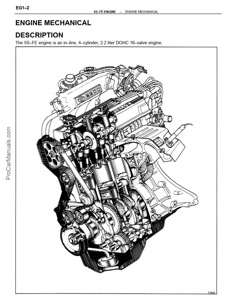 Toyota 5S–FE Engine Repair Manual (RM547E)