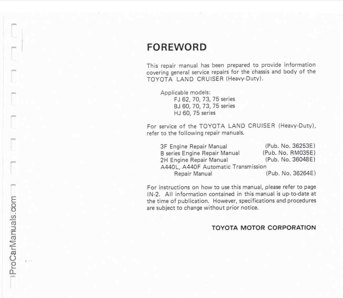 hight resolution of toyota land cruiser fj62 fj70 fj73 fj75 bj hj60 repair manual pdf free online