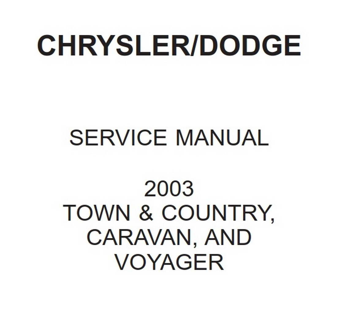 Dodge Chrysler RG Town & Country, Caravan and Voyager 2003