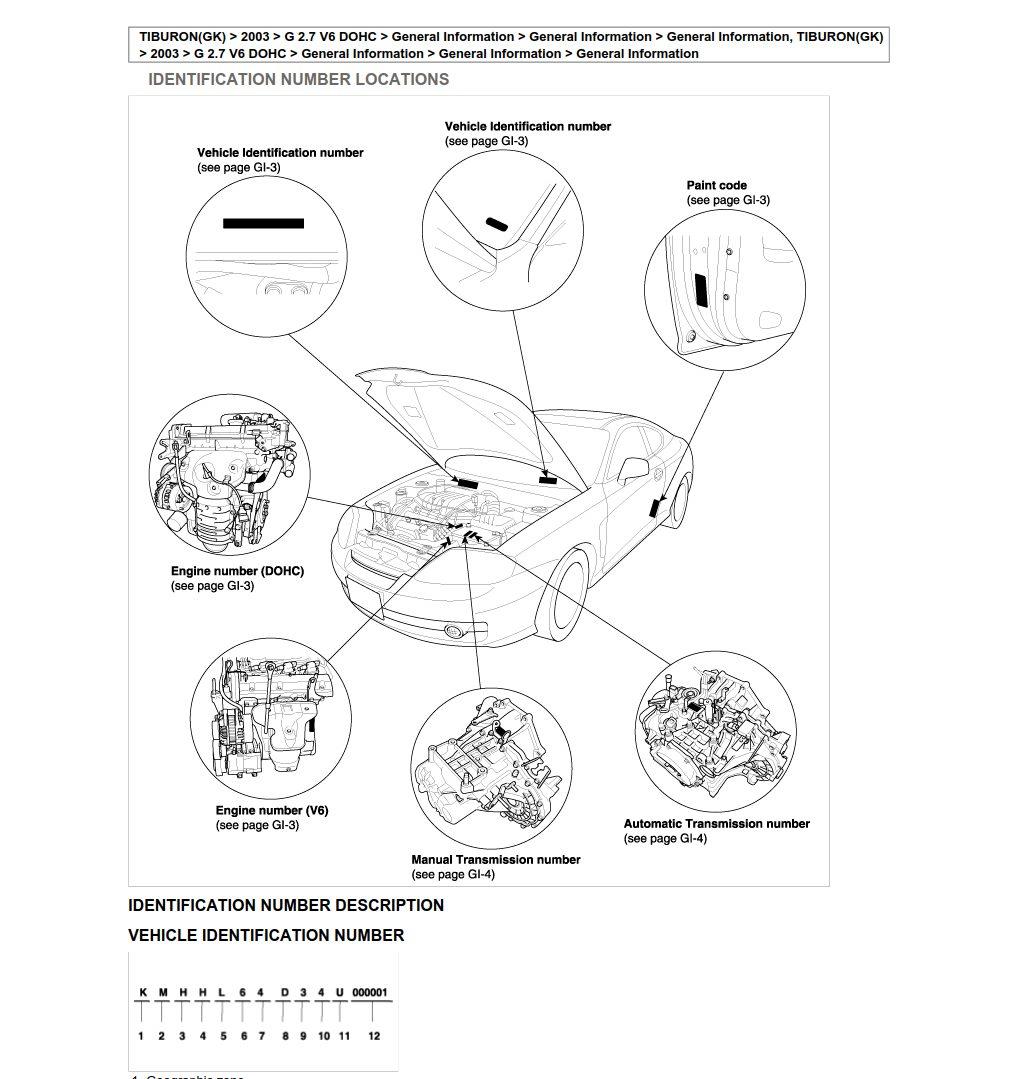 Hyundai Tiburon 2003 Workshop Manual